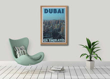 Load image into Gallery viewer, Vintage Travel Poster Dubai Panorama - Retro Poster UAE