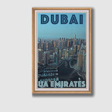 Load image into Gallery viewer, Vintage Art Print Dubai Panorama - Retro Poster UAE