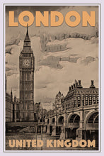 Load image into Gallery viewer, Vintage travel Poster - BIG BEN BRIDGE - LONDON  (limited-to-50XL edition) - Affiche retro