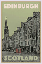 Load image into Gallery viewer, Vintage travel Poster - EDINBURGH - SCOTLAND (limited-to-50XL edition) - Affiche retro