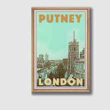 Load image into Gallery viewer, Framed Poster London Putney - Retro Poster London