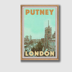 Framed Poster London Putney - Retro Poster London
