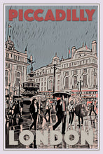 Load image into Gallery viewer, Vintage travel Poster - PICCADILLY CIRCUS LONDON - Affiche retro