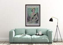 Load image into Gallery viewer, Stylish and so British with this poster of the Queen Elisabeth 2 by french artist Alecse