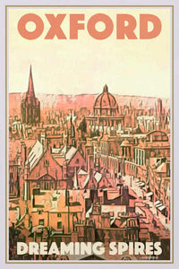 Vintage Poster Oxford Dreaming Spires - Retro Poster UK