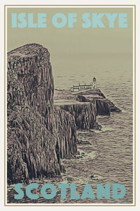 Retro poster - ISLE OF SKYE - affiche vintage