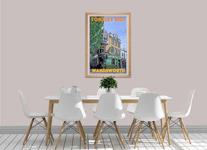 Vintage Art print Tonsley Hill Wandsworth - Retro Poster London