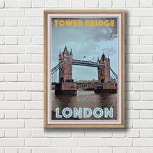 Charger l'image dans la visionneuse de la galerie, Tower Bridge London - Vintage Travel Poster