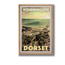 Load image into Gallery viewer, Framed Vintage Poster Bournemouth Dorset - Retro Poster UK