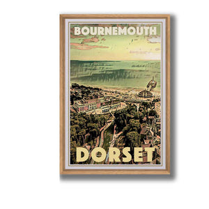 Framed Vintage Poster Bournemouth Dorset - Retro Poster UK