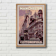 Load image into Gallery viewer, Framed Poster MANCHESTER COTTONPOLIS - My Retroposter