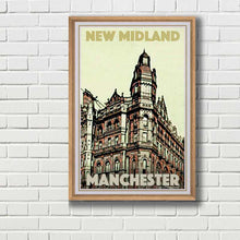 Load image into Gallery viewer, Framed Poster New Midland Hotel - Retro poster Manchester