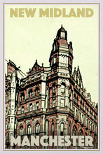 Load image into Gallery viewer, Vintage Poster New Midland Hotel - Retro poster Manchester