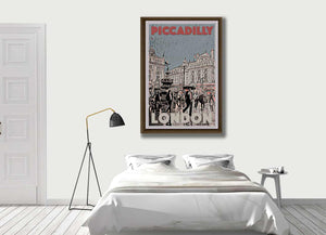 Vintage Art Print PICCADILLY CIRCUS - Retro Poster London