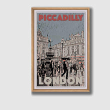 Load image into Gallery viewer, Framed Poster PICCADILLY CIRCUS - Retro Poster London