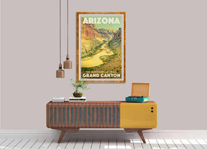 Vintage Art Print Arizona Nankoweap Trail - affiche rétro Arizona