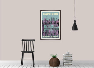 Vintage poster of CAPE COD MASSACHUSETTS - Retro Art Print