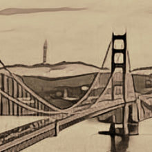Load image into Gallery viewer, detail of Golden Bridge