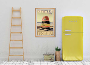 Vintage Art Print Key West Southern Point - affiche rétro édition originale Floride
