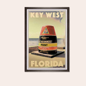 Poster en cadre Key West Southern Point - Art Print Florida