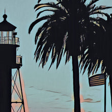 Load image into Gallery viewer, Details of LIGHTHOUSE SAN DIEGO - Vintage Travel Poster :