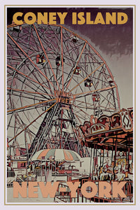 CONEY ISLAND - Vintage poster limited edition