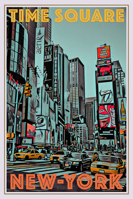 Vintage poster of Time Square New-York USA