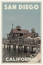 Load image into Gallery viewer, SAN DIEGO PIER CAFE - Vintage travel poster