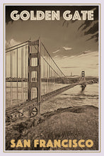 Load image into Gallery viewer, Retro poster - GOLDEN GATE SAN FRANCISCO - affiche vintage
