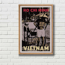 Load image into Gallery viewer, Framed poster HO CHI MINH VIETNAM - MyRetroposter
