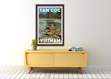 Load image into Gallery viewer, Boho Decor with Vintage Tam Coc poster - Vietnam - MyRetroposter