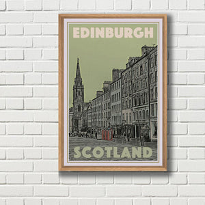 Vintage Travel Poster of Edinburgh - Limited Edition