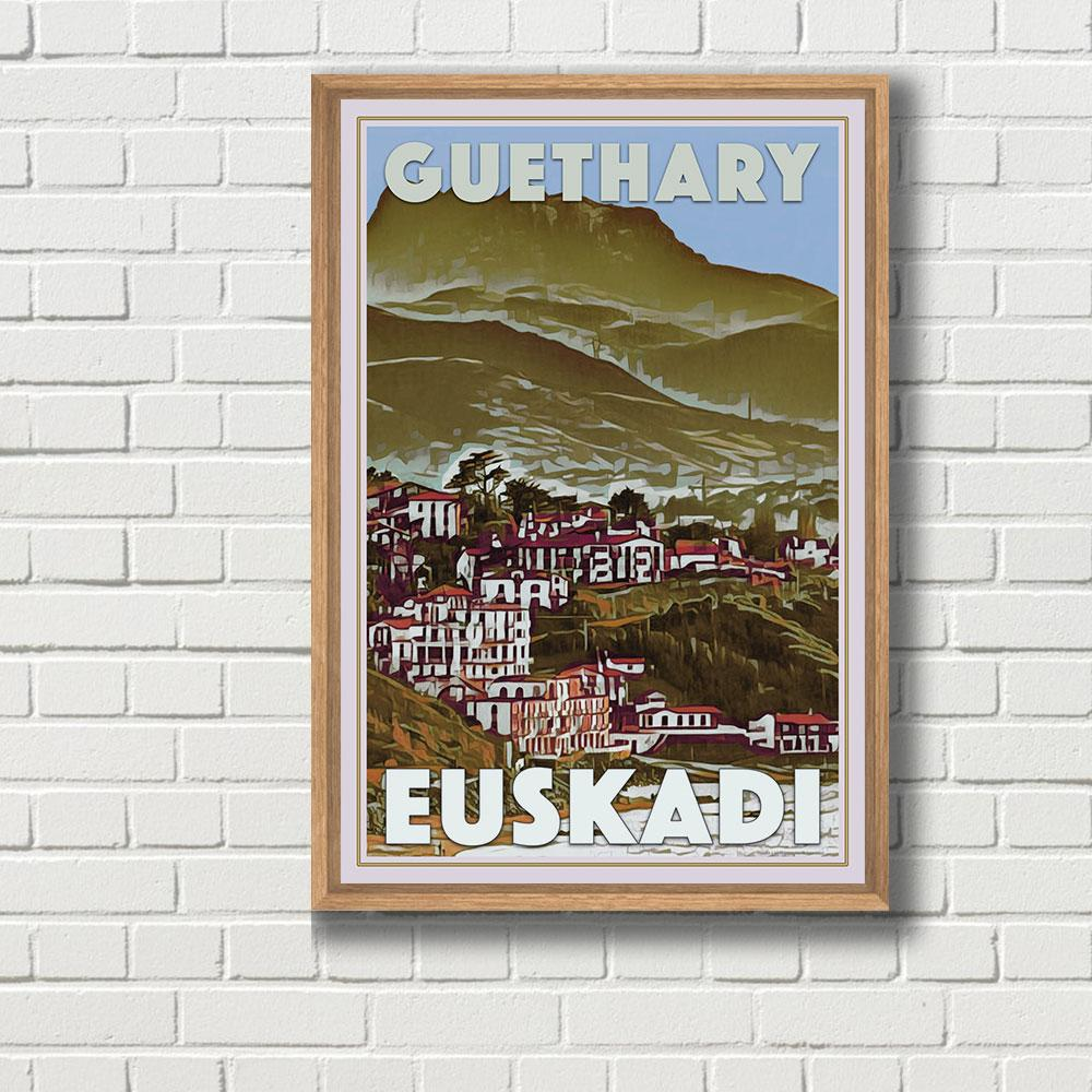 Vintage Travel Poster of Guethary - Limited Edition