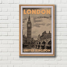 Load image into Gallery viewer, Vintage Travel Poster of Big Ben London - Limited Edition