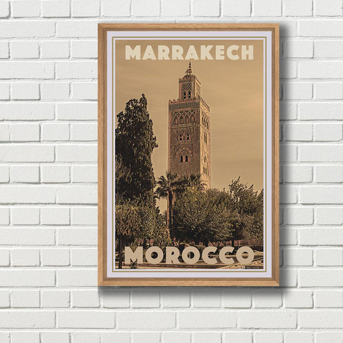 Vintage Travel Poster of Marrakech - Limited Edition