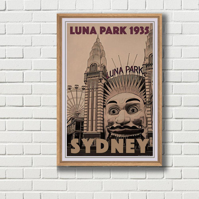 Vintage Travel Poster of Luna Park Sydney - Limited Edition