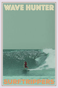 affiche rétro rasta surftripper - collection wave hunter - point principal arugam bay