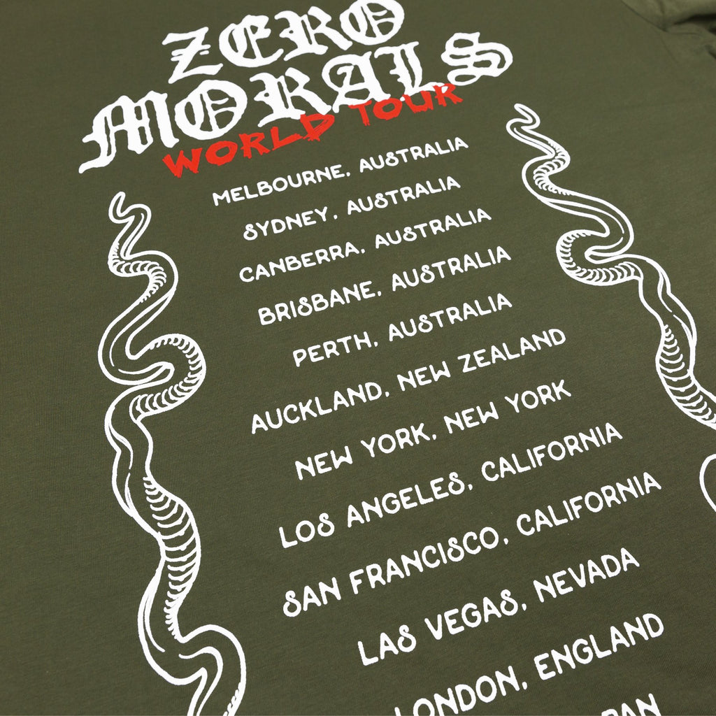World Tour Tee V1 (army green)