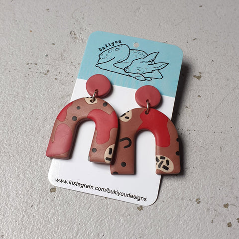 Arch Polymer Clay Earrings (2)