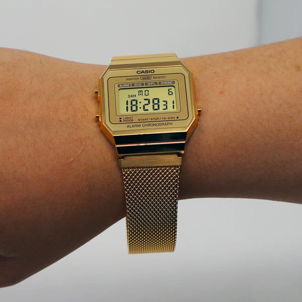 Casio A700WMG-9ADF Gold Band Unisex