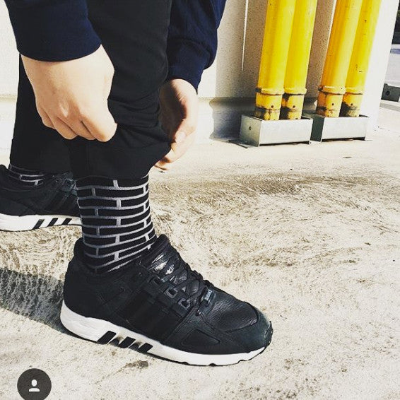 Grey Bricks Sock
