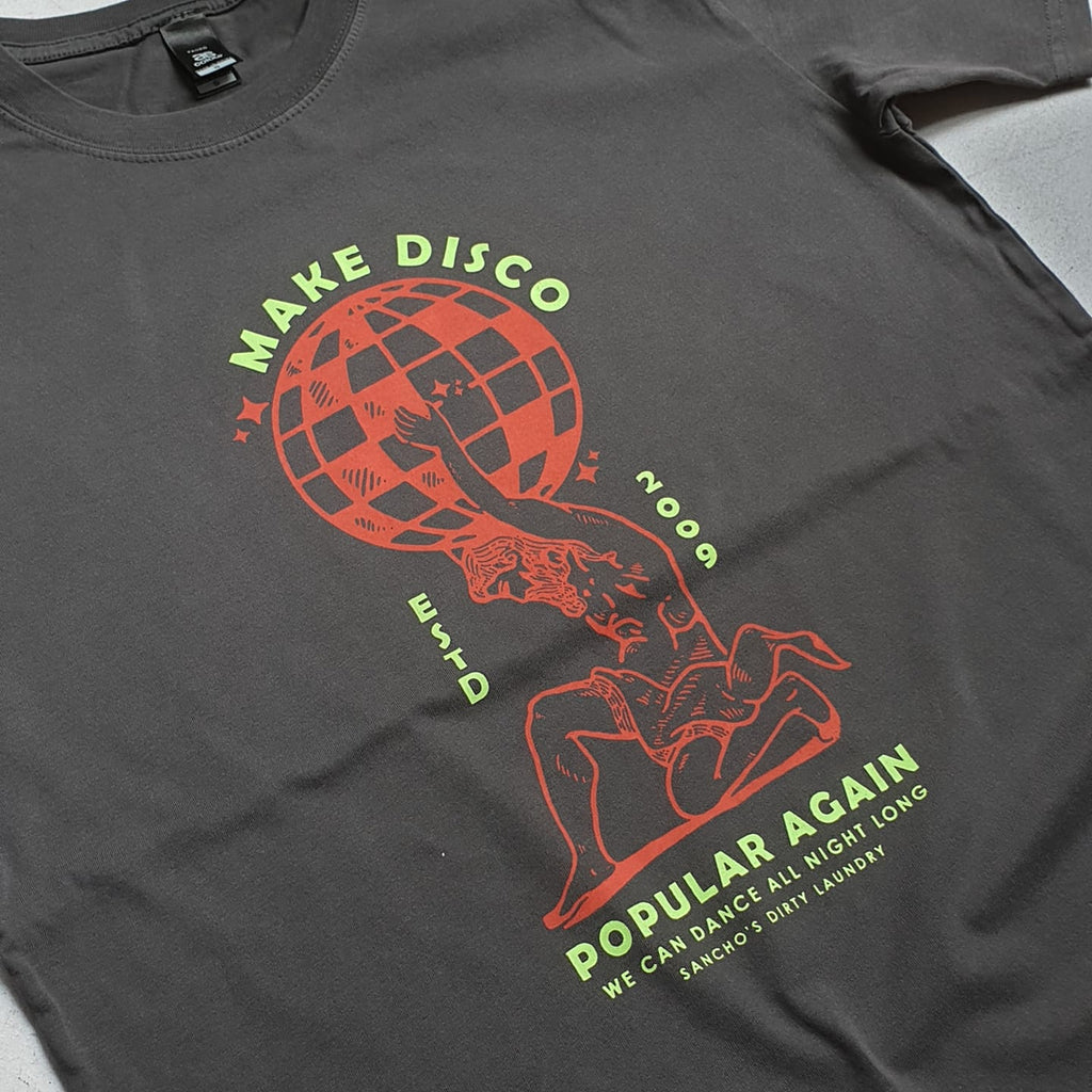 Disco Forever Shop Tee (charcoal)