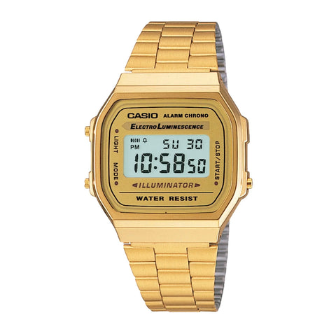Casio A168WG-9WDF Gold Band Unisex