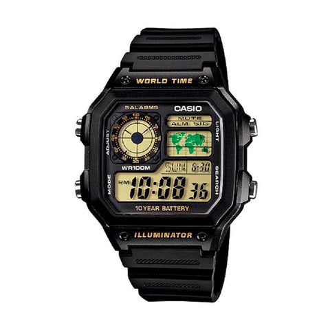 Casio AE-1200WH-1BVDF Black Band Unisex
