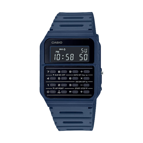 Casio CA-53WF-2BDF Blue Calculator Databank Watch Unisex