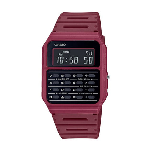 Casio CA-53WF-4BDF Wine Calculator Databank Watch Unisex