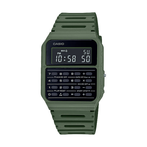 Casio CA-53WF-3BDF Khaki Calculator Databank Watch Unisex