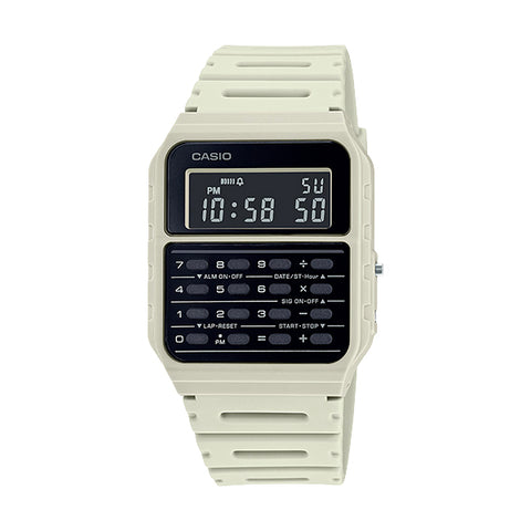 Casio CA-53WF-8BDF White Calculator Databank Watch Unisex