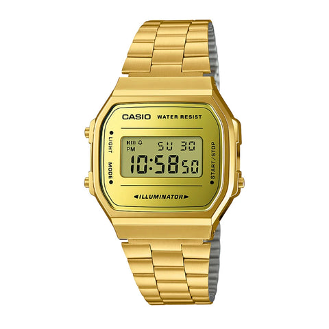 Casio A168WEGM-9DF Gold Band Unisex