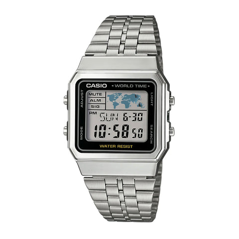Casio A500WA-1DF Silver Band Unisex